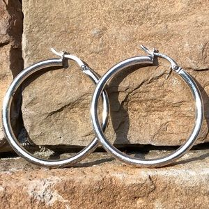 Jewelry - NWOT Sterling Silver Hoop Earrings